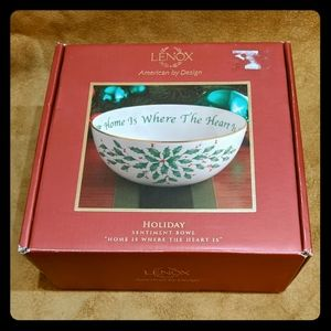 Lenox Holiday 'Home is Where the Heart Is' Bowl